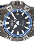 Seiko Men's SNE283 Gunmetal-Tone Stainless Steel Watch with Blue Polyurethane Band